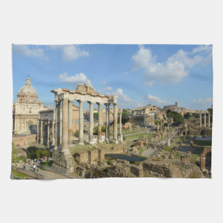 Roman Ruins in Rome Italy Kitchen Towel