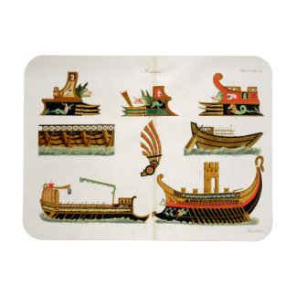 Roman Ships with details of figureheads, plate 23, Flexible Magnet