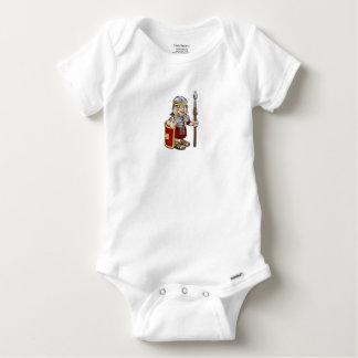 Roman Soldier Cartoon Character Baby Onesie