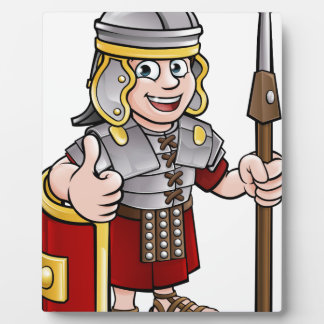 Roman Soldier Cartoon Character Plaque