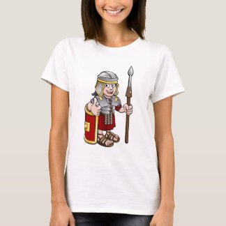 Roman Soldier Cartoon Character T-Shirt