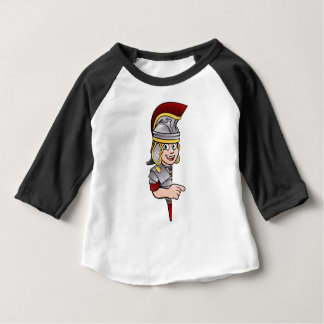 Roman Soldier Pointing Baby T-Shirt