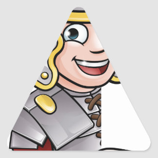 Roman Soldier Pointing Triangle Sticker