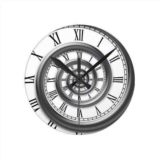 Roman Spiral Wall Clock Zazzle
