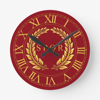 Roman SPQR Wall Clock