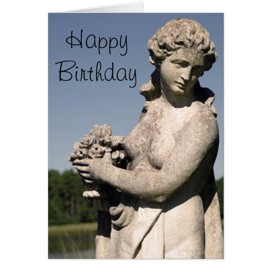 Roman Statue Birthday Card