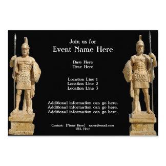 Roman Statues Invitations