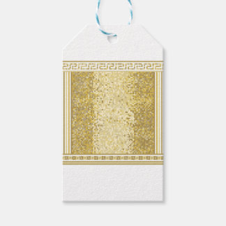 Roman style background gift tags