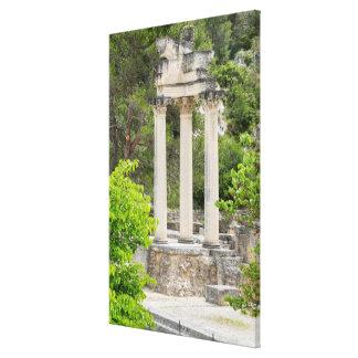 Roman Temple Ruins, France Canvas Print
