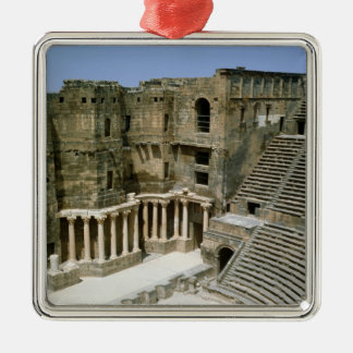 Roman theatre at Bosra , Syria Silver-Colored Square Ornament