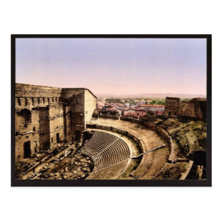 Roman theatre, interior, Orange, Provence, France Postcard