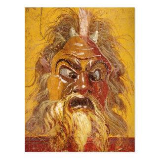 Roman Theatre Mask Postcard