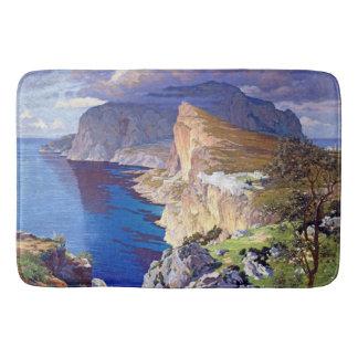 Roman Villa Imagined off Capri Island Bath Mat