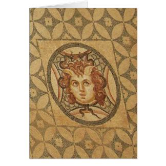 Roman villa mosaic card