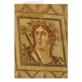 Roman Villa Mosaic in Ephesus Card