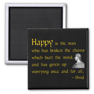 Roman wisdom quote on Worrying Magnet