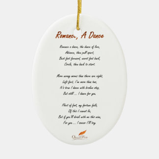 Romance, A Dance Poem Ceramic Ornament