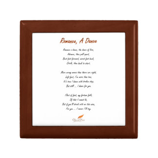 Romance, A Dance Poem Gift Box