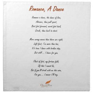 Romance, A Dance Poem Napkin