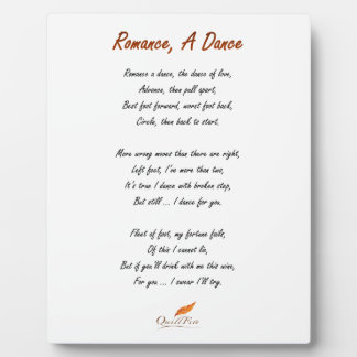 Romance, A Dance Poem Plaque