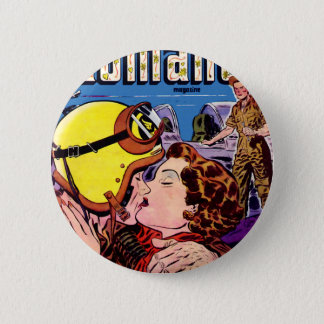 Romance and a Pilot 2 Inch Round Button