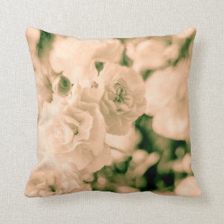 Romance and Ruffles Carnations floral design Throw Pillow