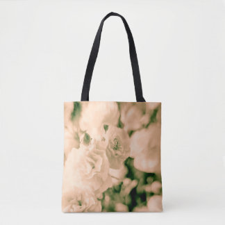 Romance and Ruffles Carnations floral design totes
