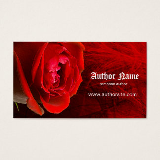 Romance Author Business Card