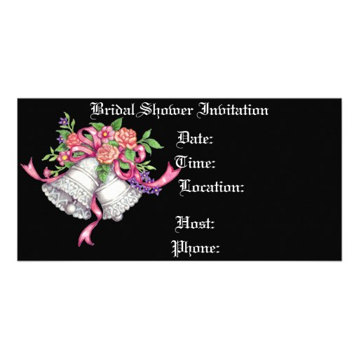Romance - Bridal Shower Invitation Customized Photo Card