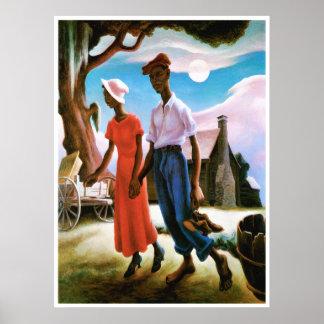 Romance by Thomas Hart Benton Poster