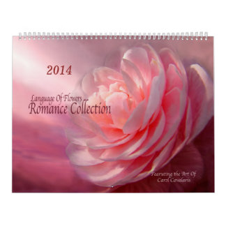 Romance Collection Floral Art Calendar 2014