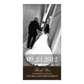 ROMANCE IN BLACK  | WEDDING THANK YOU CARD PHOTO CARD