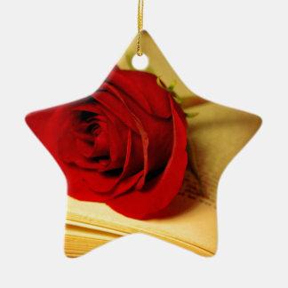 Romance in Literature Ceramic Ornament