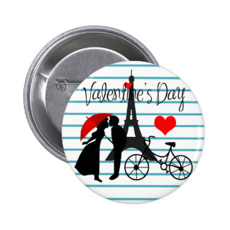 Romance in Paris 2 Inch Round Button