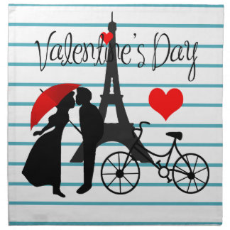 Romance in Paris Napkin