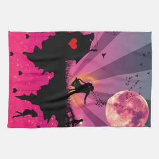 Romance in the Sky Kitchen Towel