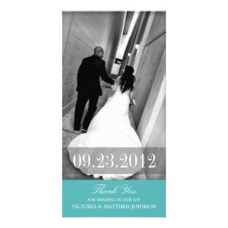 ROMANCE IN TURQUOISE | WEDDING THANK YOU CARD PHOTO CARD