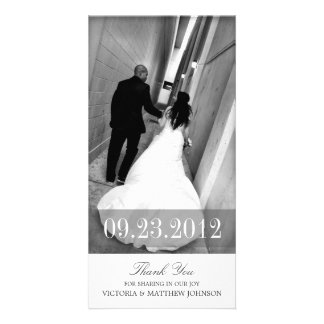 ROMANCE IN WHITE | WEDDING THANK YOU CARD CUSTOMIZED PHOTO CARD