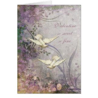 Romance - Love Doves - Illustration Card