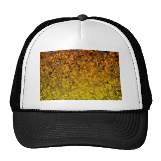 ROMANCE ME IN ORANGE Fiery Space Ombre Abstract Trucker Hat