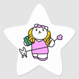 Romance movie parody cue blonde star sticker