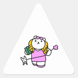 Romance movie parody cue blonde triangle sticker