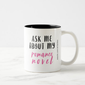 Romance Novel (White-Pink-Black) Two-Tone Coffee Mug
