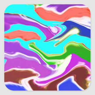 Romance of Solitude - Deep Water, Purple n Smiles Square Sticker