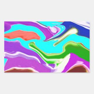 Romance of Solitude - Deep Water Purple n Smiles Rectangle Sticker