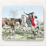Romance on the Hunt Mouse Mat