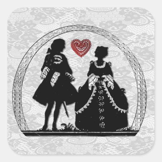 Romance Silhouette Romantic Stickers