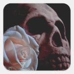 Romance Skull Square Sticker