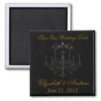 Romance with a Chandelier ~ Save the Date Love Square Magnet