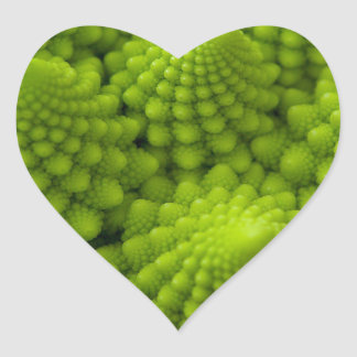 Romanesco Broccoli Fractal Vegetable Heart Sticker